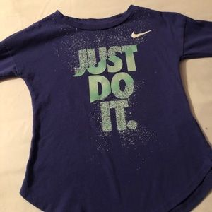 Little girls purple Nike T-shirt